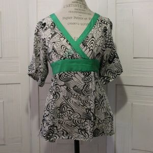 Anthropologie Lashbuna Kimono Blouse By Fei Size 6